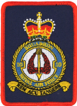No. 10 Squadron Royal Air Force RAF Crest New MOD Embroidered Patch